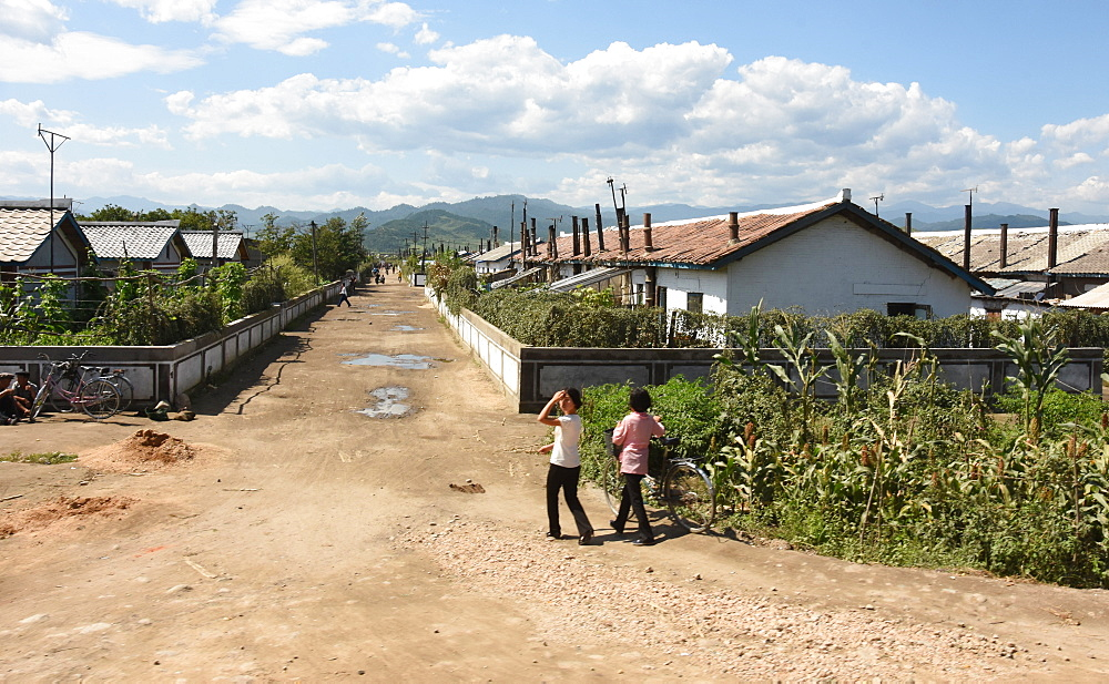 Residential area at Yongbun, near Chongjin, Hamgyong Province, North Korea, Asia - 29-5502