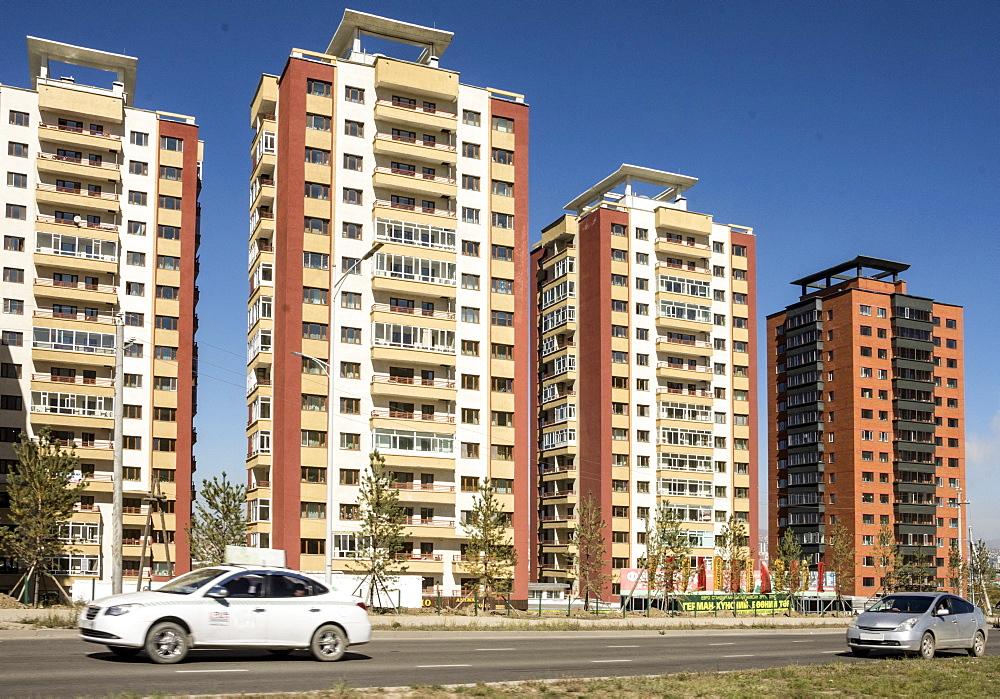 High-rise suburbs, Ulaanbaata, Mongolia, Asia - 29-5513