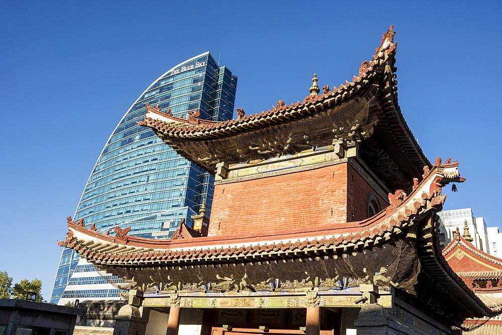 Choijin Lama Monastery and Blue Sky Building, Ulaanbaatar, Mongolia