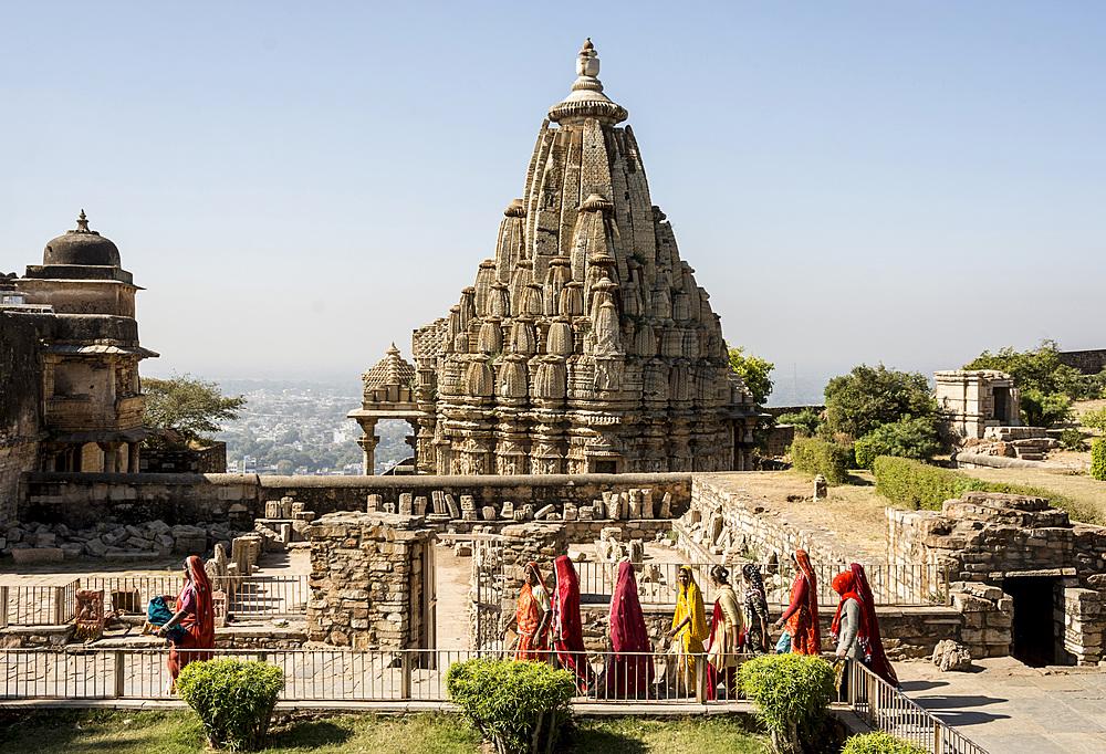 Mahasati pyre platforms, Chittorgarh (Fort), Chittor, Rajasthan, India, Asia - 29-5536