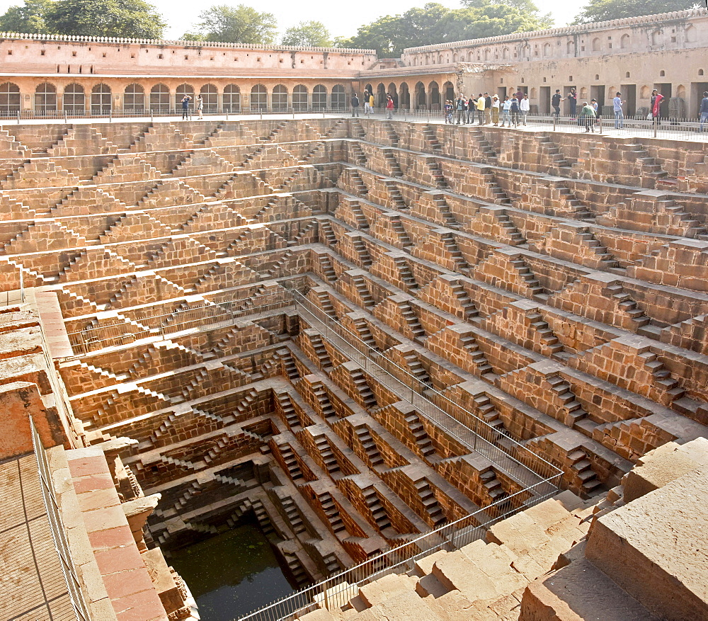 Chand Baori stepwell, Abhaneri, Jaipiur, Rajasthan, India, Asia - 29-5545