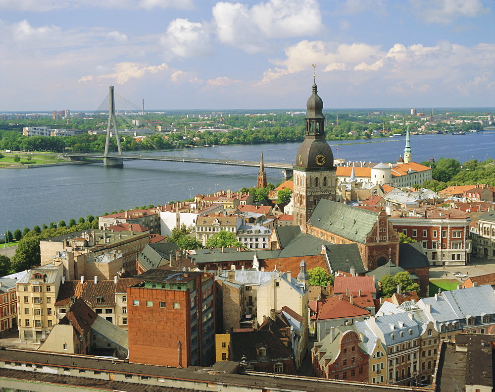 Riga and River Daugava, Latvia