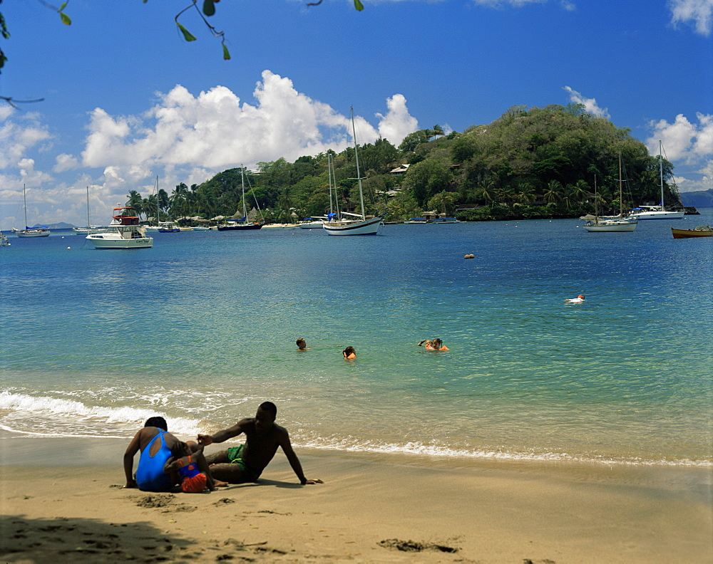 Young Island from Villa Bay, St. Vincent, Windward Islands, West Indies, Caribbean, Central America
