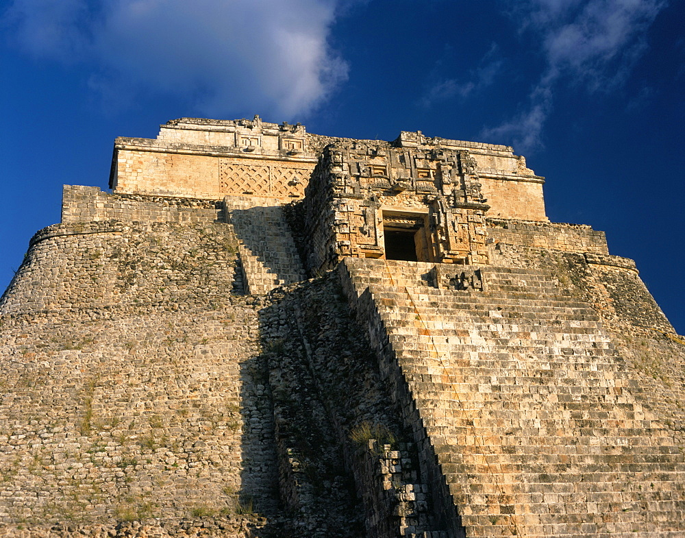 Pyramid of the Magician, Uxmal, UNESCO World Heritage Site, Yucatan, Mexico, North America