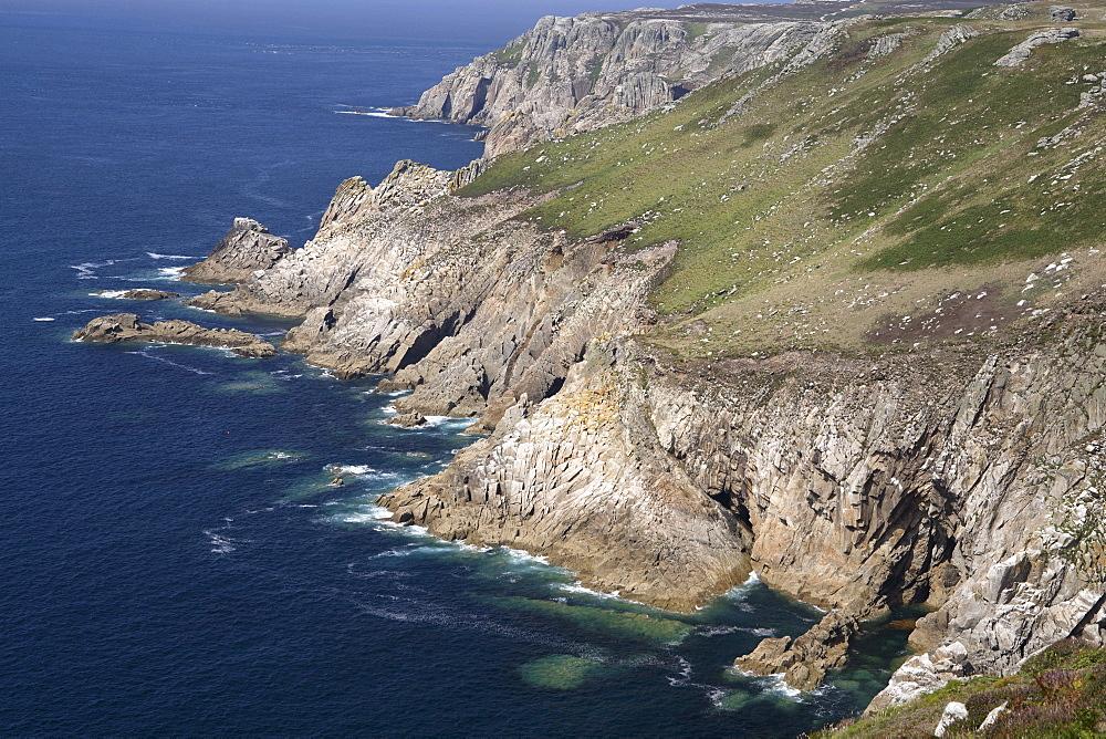 Rocky west coast, Lundy island, Bristol Channel, Devon, England, United Kingdom, Europe