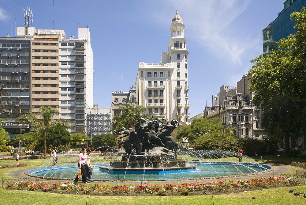 Plaza Fabini, Montevideo, Uruguay, South America - 306-3600