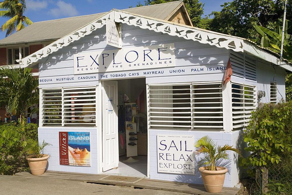 Sailing shop, Port Elizabeth. Bequia, St.Vincent Grenadines, West Indies, Caribbean, Central America