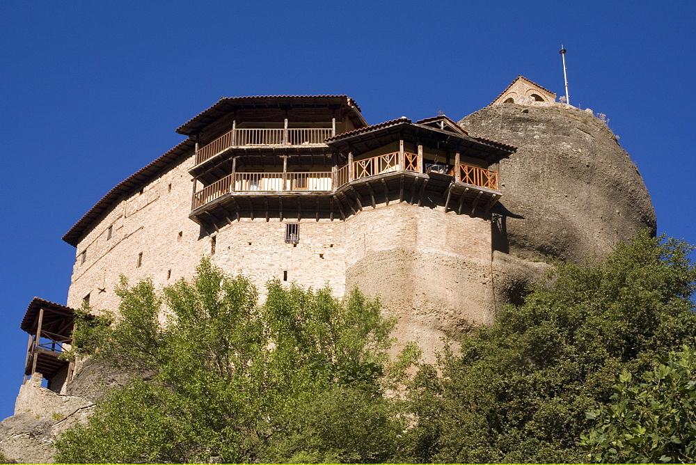 St. Nicholas Anapafsa (St. Nicholas Anapausas) monastery, Meteora, UNESCO World Heritage Site, Thessaly, Greece, Europe
