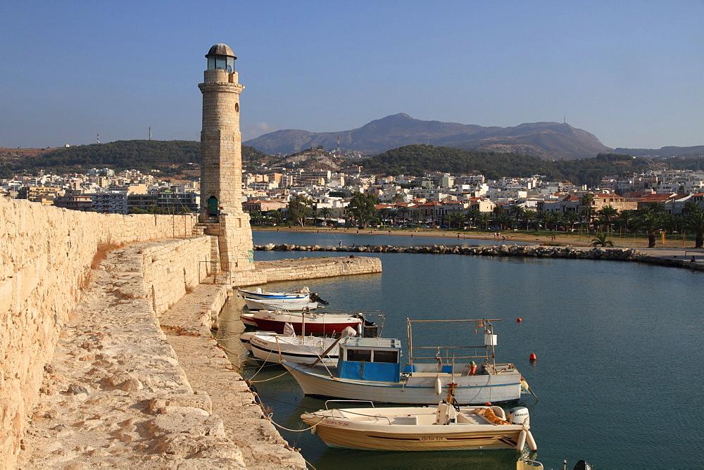 Rethymno harbour, Crete, Greek Islands, Greece, Europe