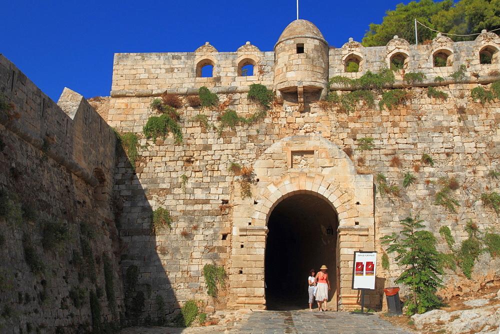 East gate, Fortetza, Rethymno, Crete, Grek Islands, Greece, Europe