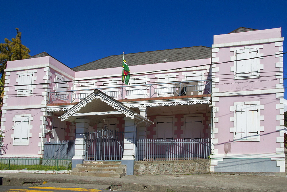 Old Parliament Building, Roseau, Dominica, Windward Islands, West Indies, Caribbean, Central America