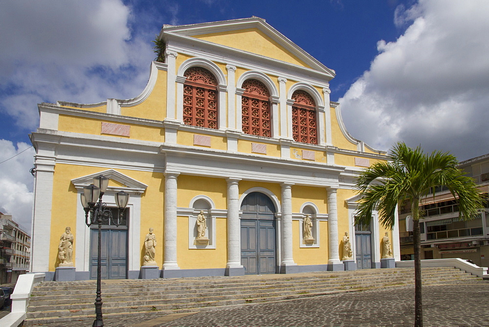 Cathedral, Point-a-Pitre, Guadeloupe, Leeward Islands, West Indies, Caribbean, Central America
