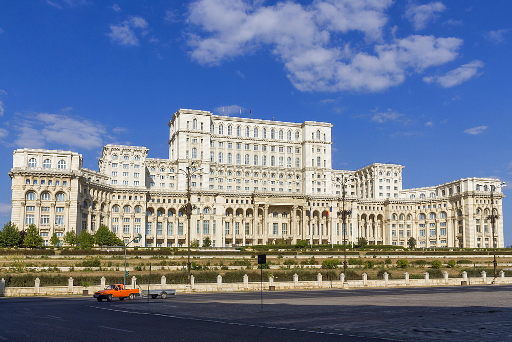 Palace of Parliament, the world's second largest building after the Pentagon, Bucharest, Romania, Europe