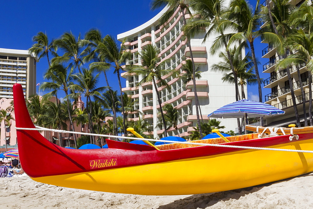 Waikiki beach, Honolulu, Oahu, Hawaii, United States of America, Pacific
