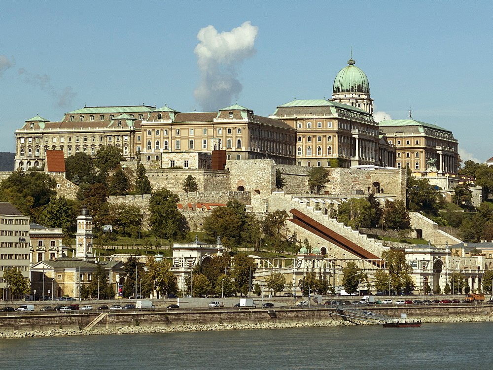 Castle and River Danube, Budapest, Hungary, Europe - 306-4385