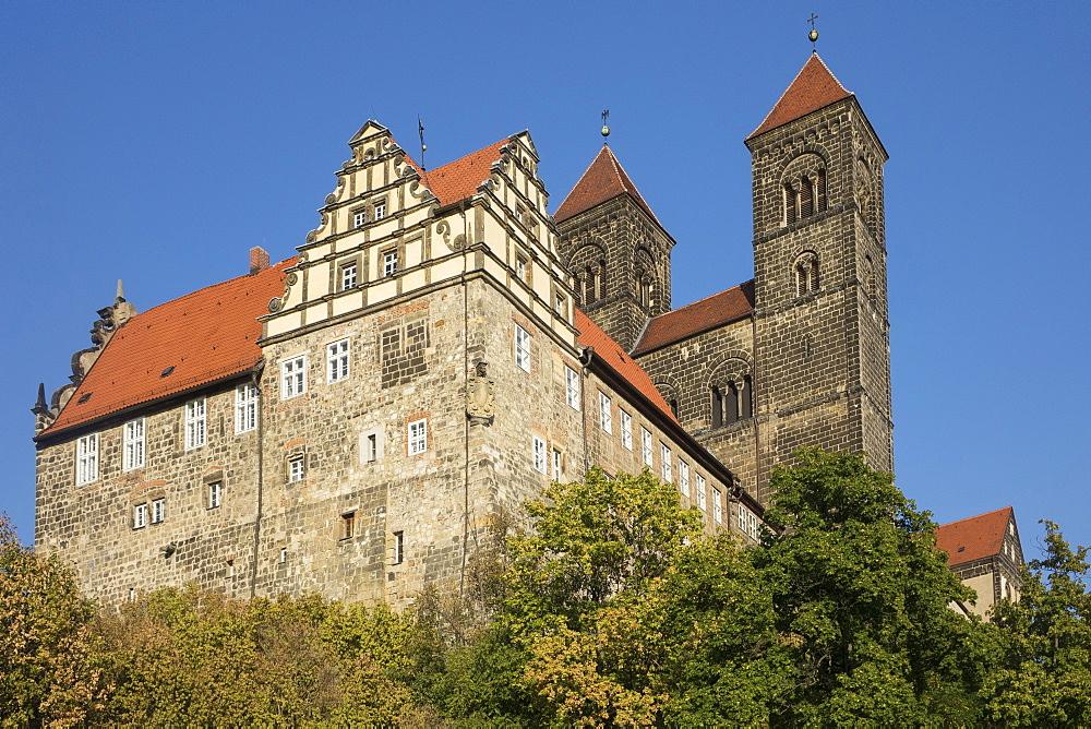 Schloss Quedlinburg, Harz, Saxony-Anhalt, Germany, Europe - 306-4404