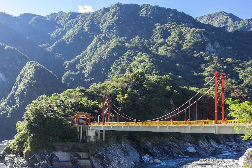 Tianxiang bridge, Taroko Gorge, Taiwan, Asia - 306-4416