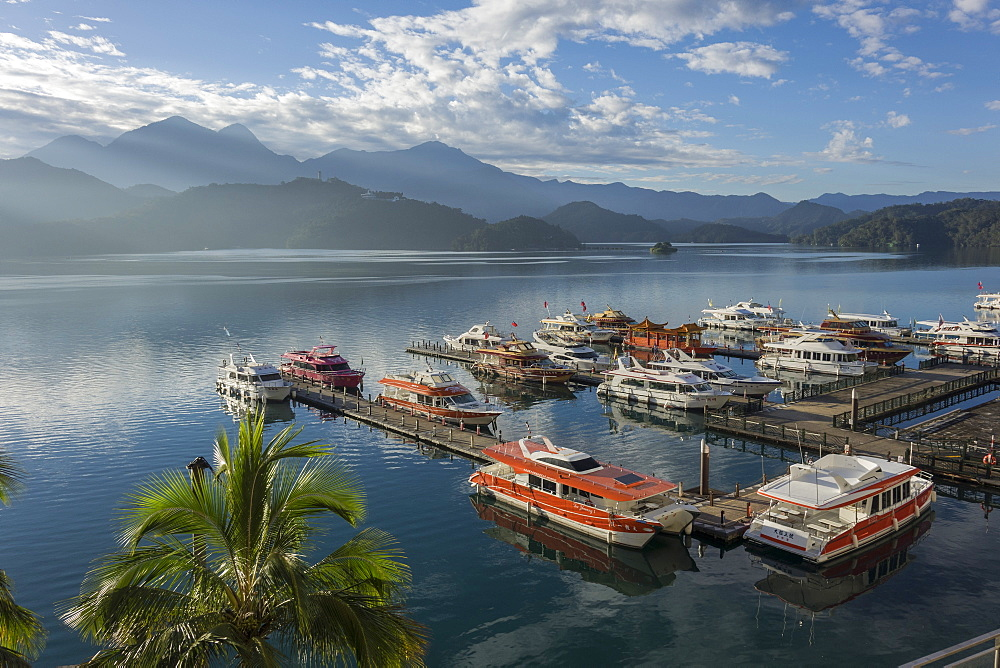 Shuishe Pier, morning, Sun Moon Lake, Taiwan, Asia - 306-4417