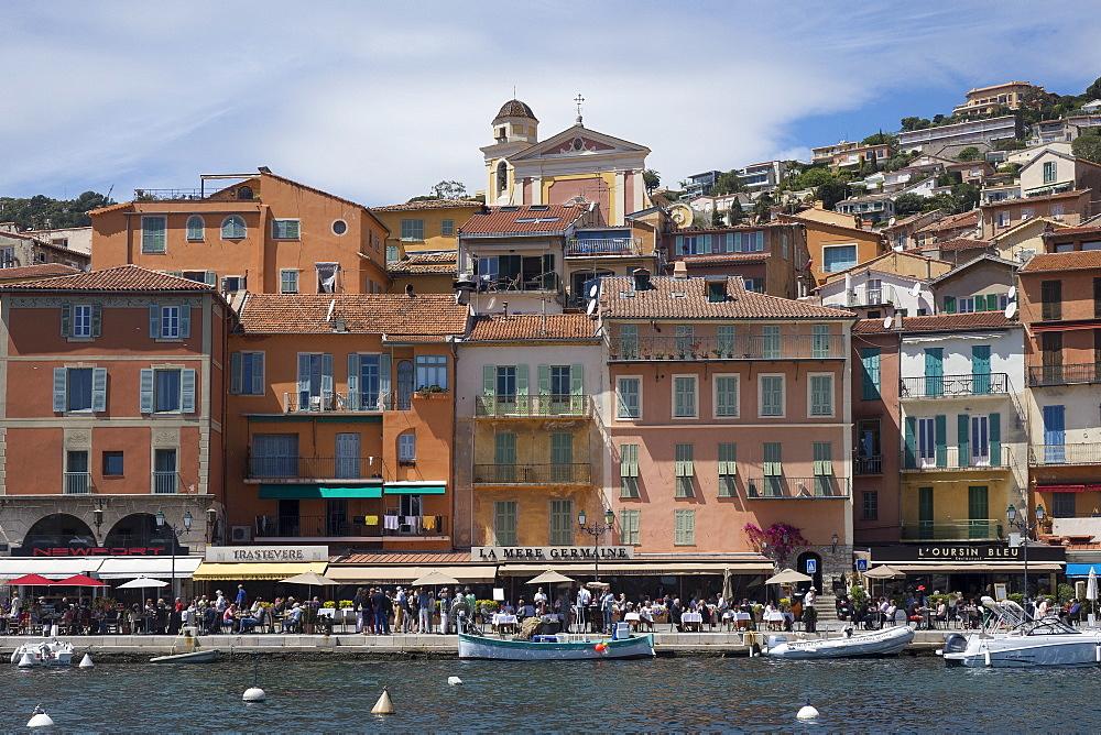 Waterfront Villefranche, Alpes Maritime, Cote d'Azur, Mediterranean, Europe - 306-4430