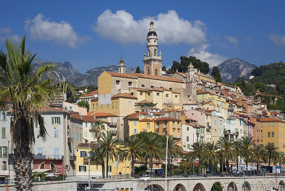 Menton old town, Alpes Maritime, Cote d'Azur, France, Europe