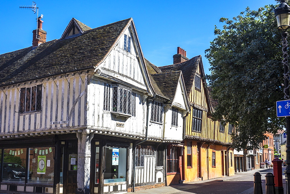 Old houses in Silent Street, Ipswich, Suffolk, England, United Kingdom, Europe - 306-4466