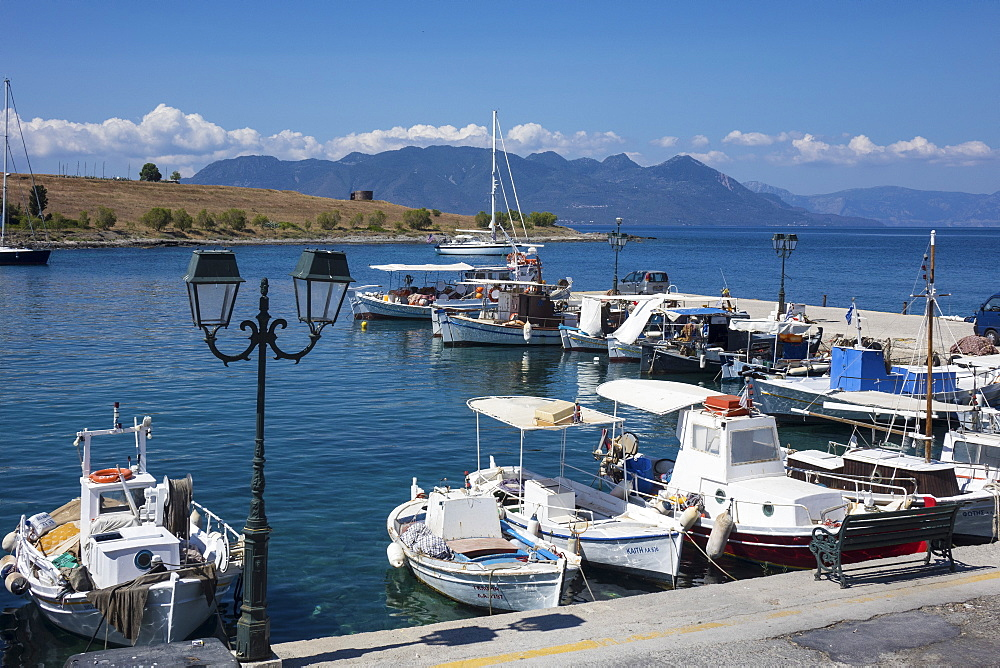 Harbour, Perdika Aegina, Saronic Islands, Greek Islands, Greece, Europe - 306-4488