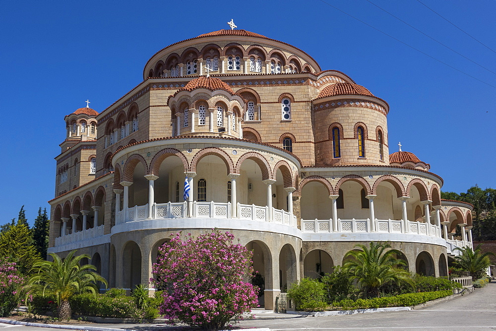 Aghios Nektarios Monastery, Aegina, Saronic Islands, Greek Islands, Greece, Europe - 306-4490
