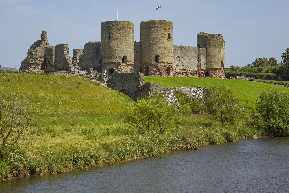 Rhuddlan Castle, Denbighshire, Wales, United Kingdom, Europe - 306-4491