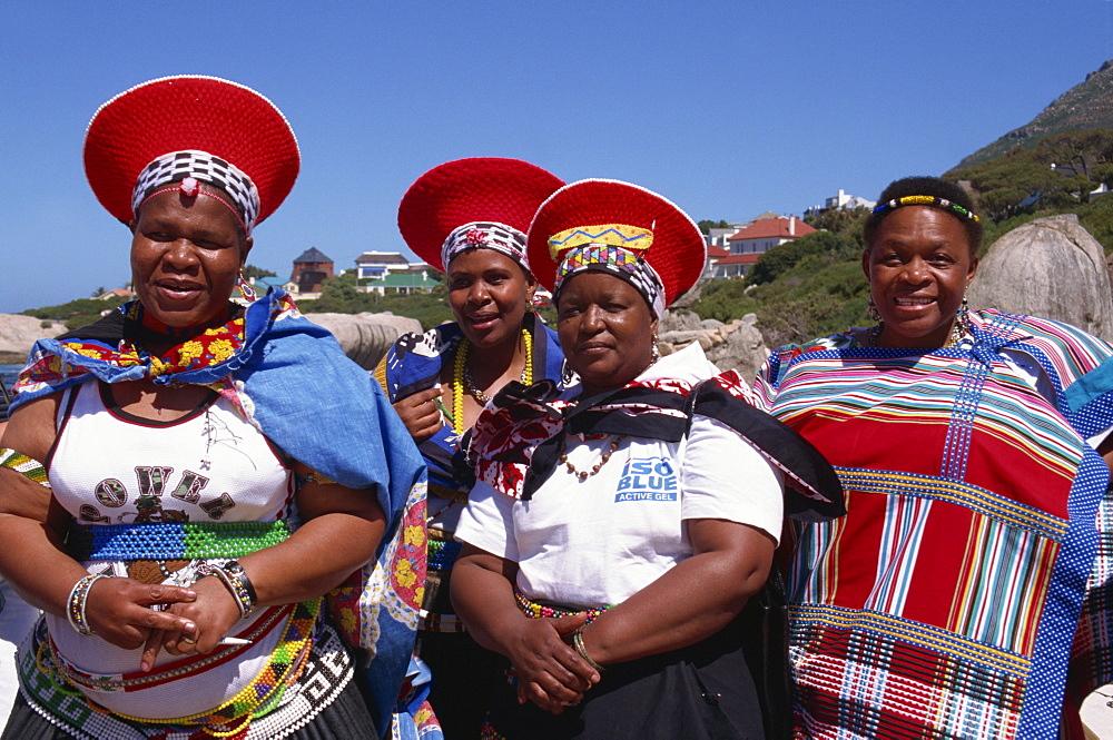Zulu ladies, Cape Town, South Africa, Africa