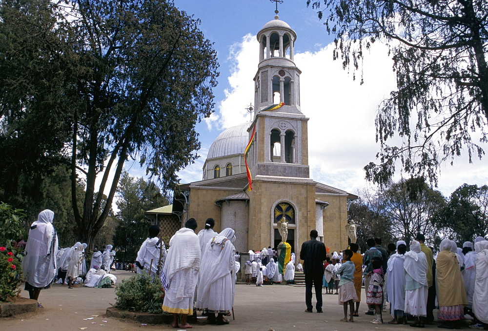 Festival of St. Mary's, St. Mary's church, Addis Ababa, Ethiopia, Africa