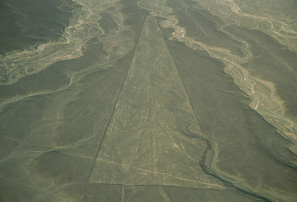 Trapezoid, Nazca Lines (Nasca Lines), UNESCO World Heritage Site, Peru, South America