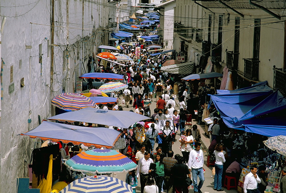 Street market, Old town, Quito, Ecuador, South America