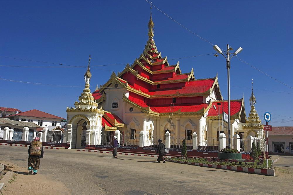 Wat Pha Jan Lung (Maha Myat Muni) temple, dating from the 19th century, Kengtung (Kyaing Tong), Shan State, Myanmar (Burma), Asia