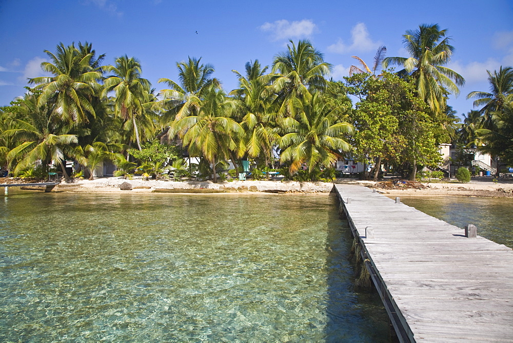 Jetty, Tobaco Caye, Belize, Central America