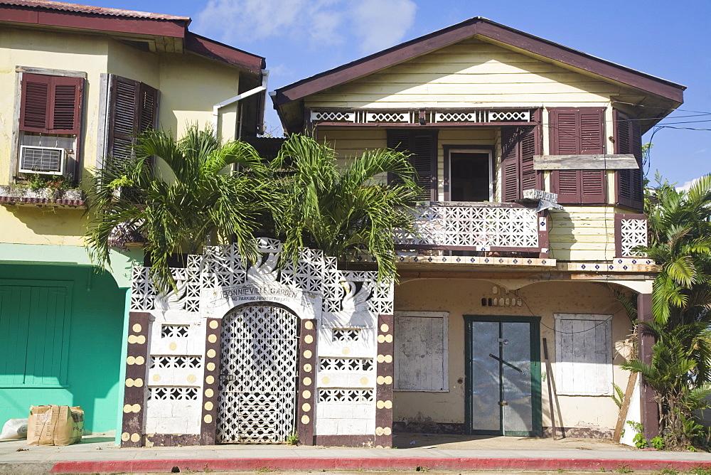 Houses, Dangriga, Belize, Central America