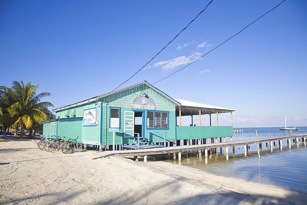 Rainbow grill and bar, Caye Caulker, Belize, Central America