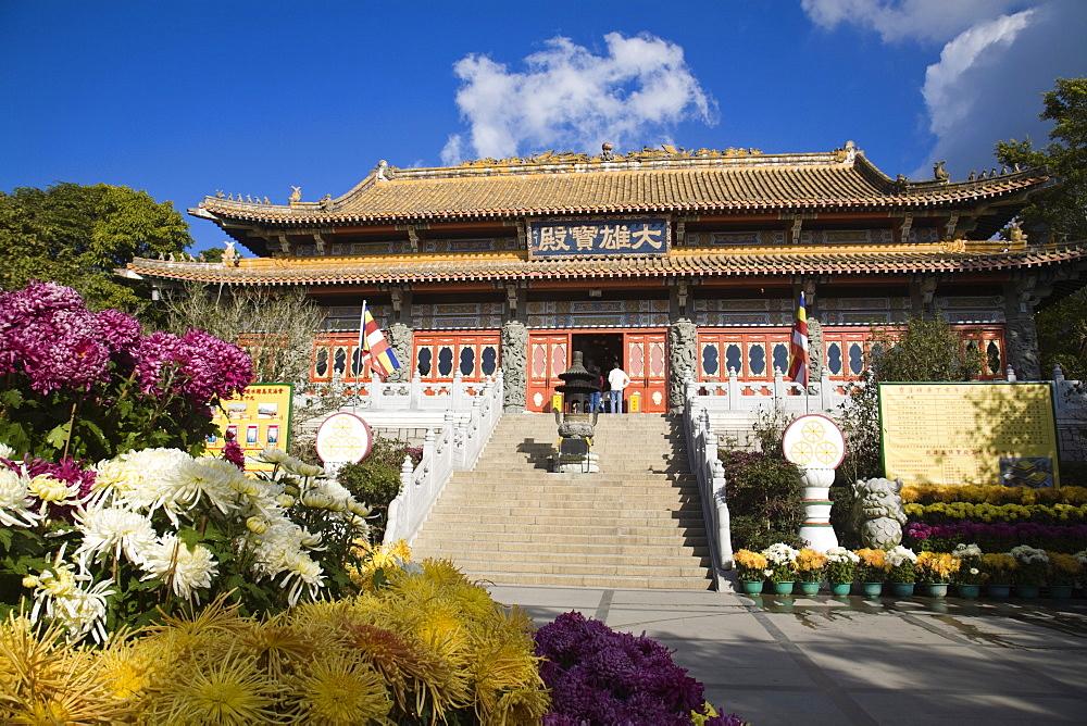 Ngong Ping, Po Lin Buddhist Monastery and temple complex, Lantau Island, Hong Kong, China, Asia