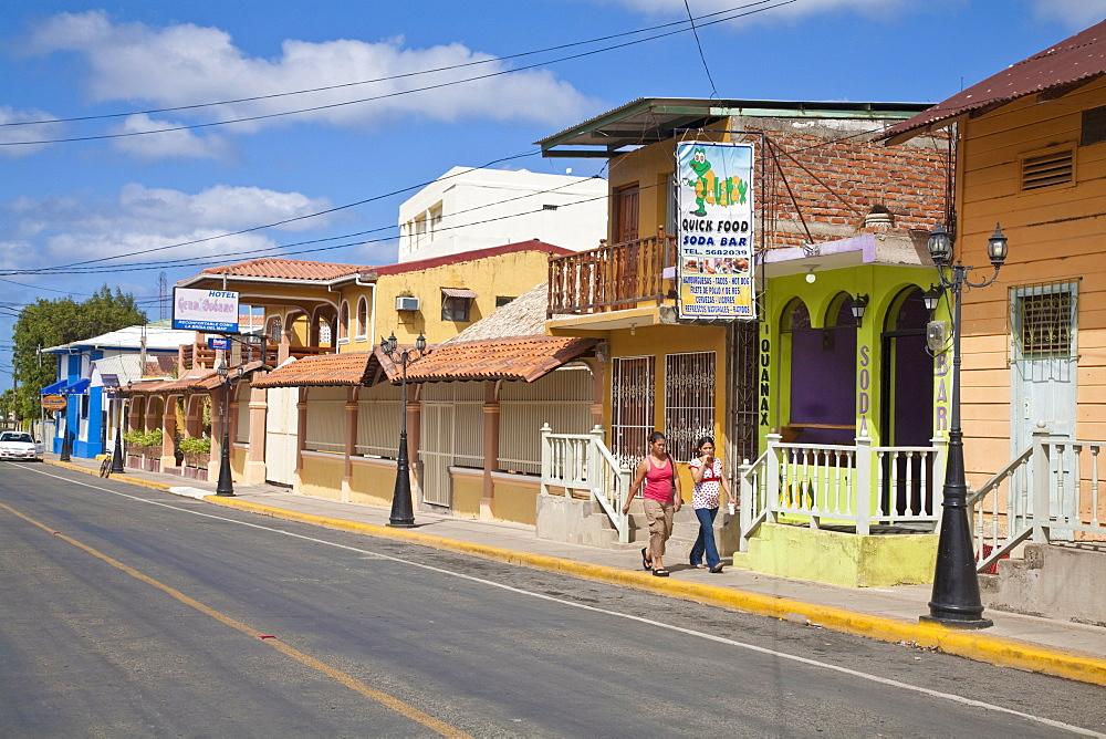 Street scene, San Juan Del Sur, Nicaragua, Central America