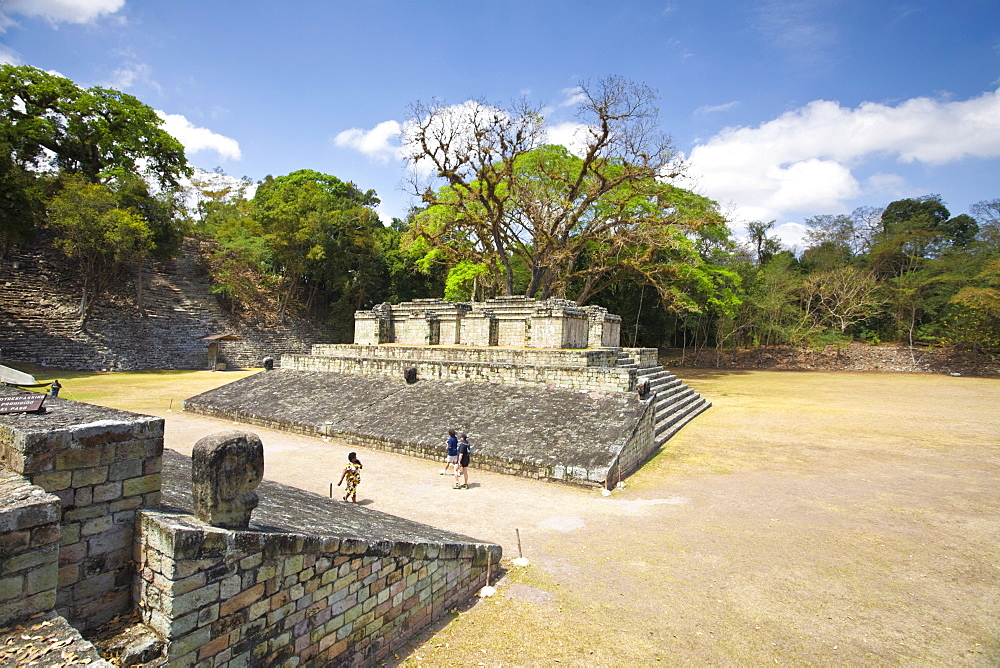 Ball Court, dating from AD 731, Central Plaza, Copan, UNESCO World Heritage Site, Honduras, Central America
