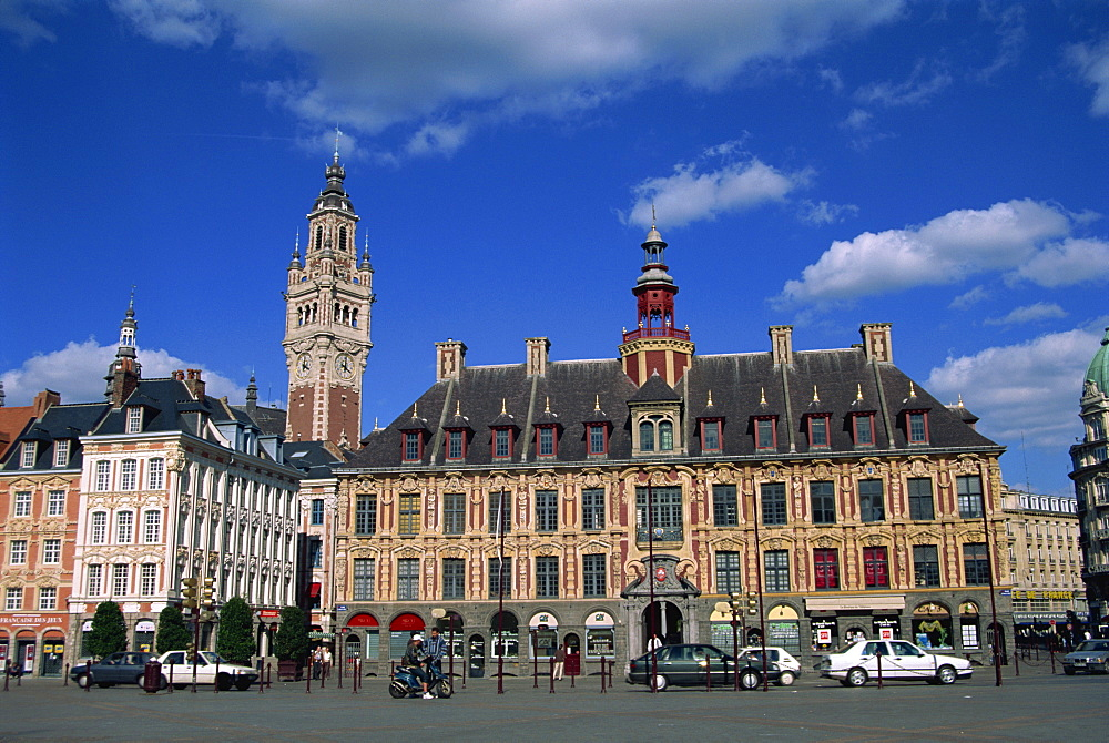 The Vielle Bourse on the Grand Place in the city of Lille in Nord Pas de Calais, France, Europe