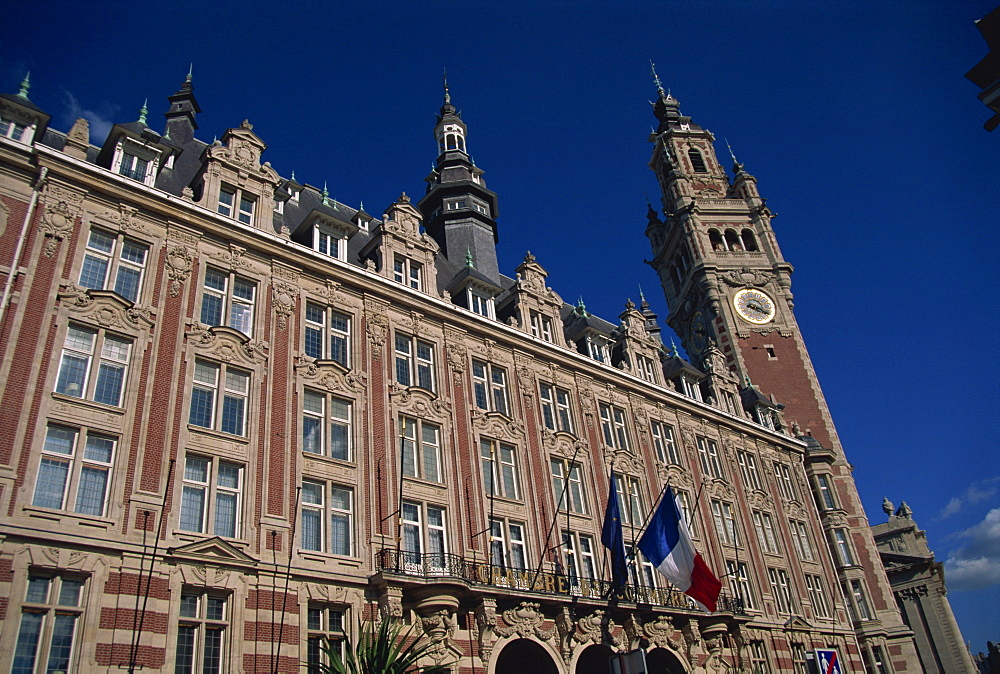 The Chamber of Commerce building in the city of Lille, Nord Pas de Calais, France, Europe