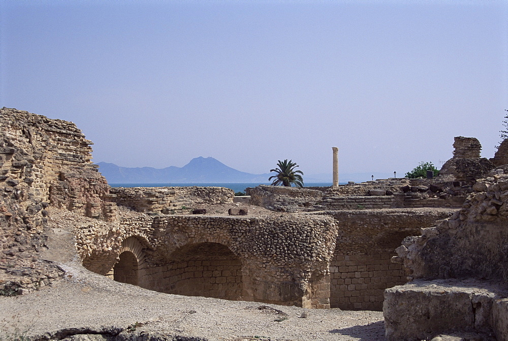 Antonine Baths, Carthage, UNESCO World Heritage Site, Tunisia, North Africa, Africa