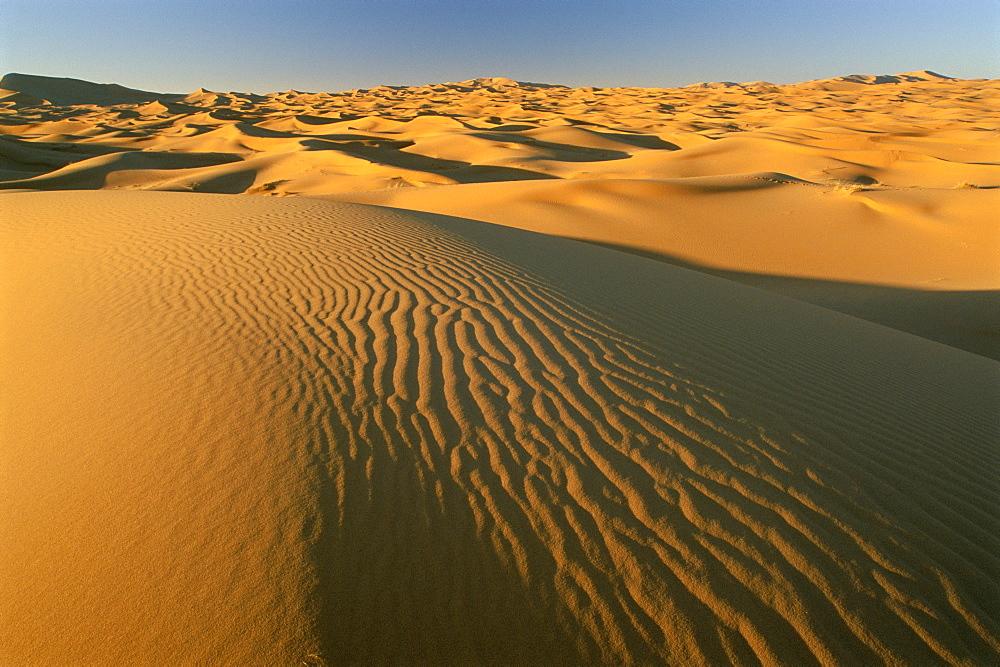 Dunes of the Erg Chebbi, Sahara Desert near Merzouga, Morocco, North Africa, Africa