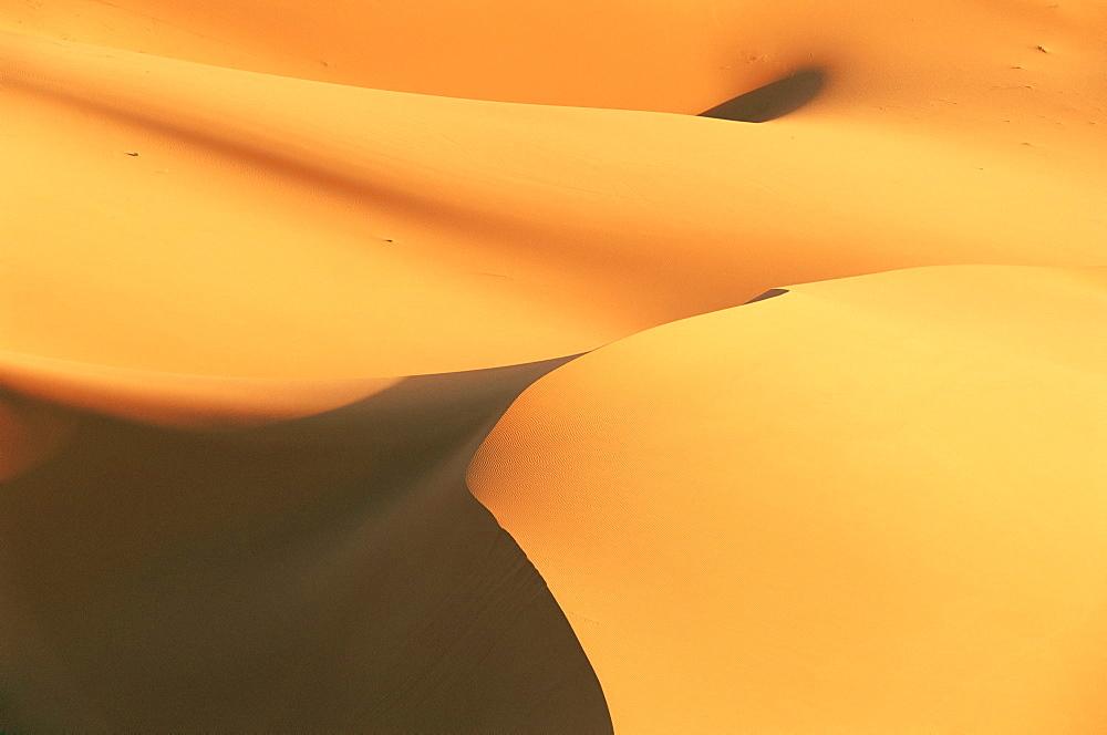 Close-up of sand dunes in Erg Chebbi sand sea, Sahara Desert, near Merzouga, Morocco, North Africa, Africa