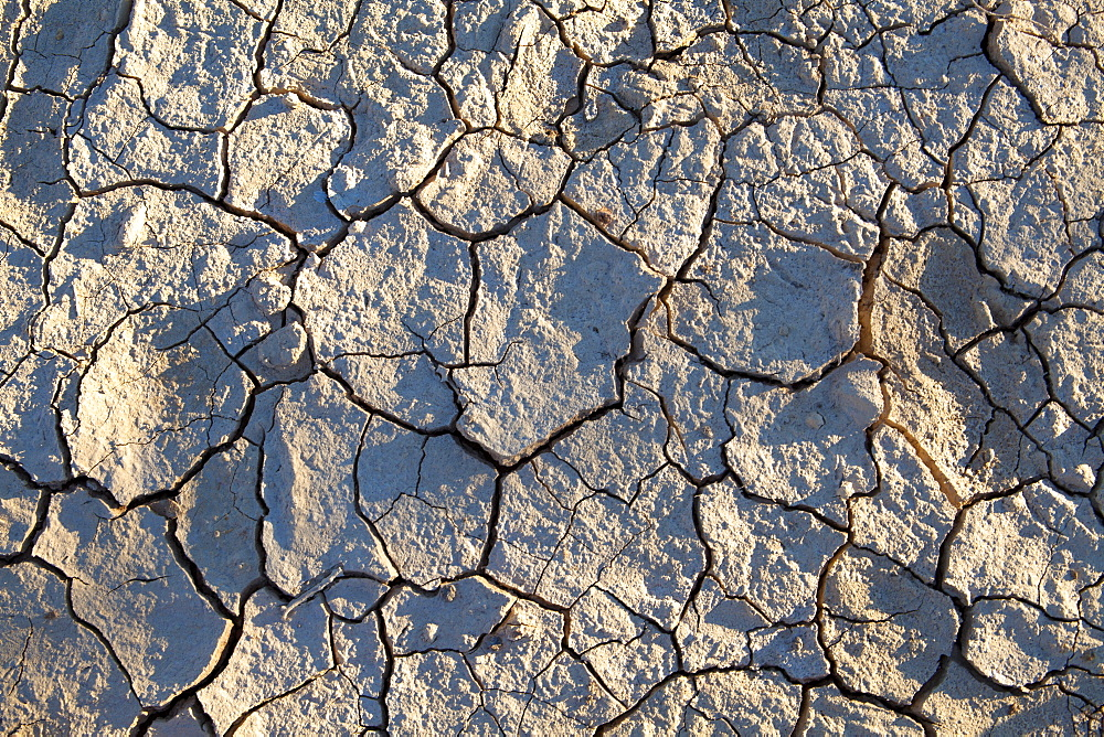 Dried mud/cracked earth at Sossusvlei in the ancient Namib Desert near Sesriem, Namib Naukluft Park, Namibia, Africa