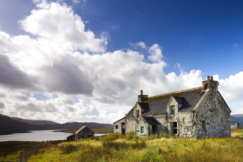 Abandoned croft near the village of Lacasaidh (Laxay), Isle of Lewis, Outer Hebrides, Scotland, United Kingdom, Europe