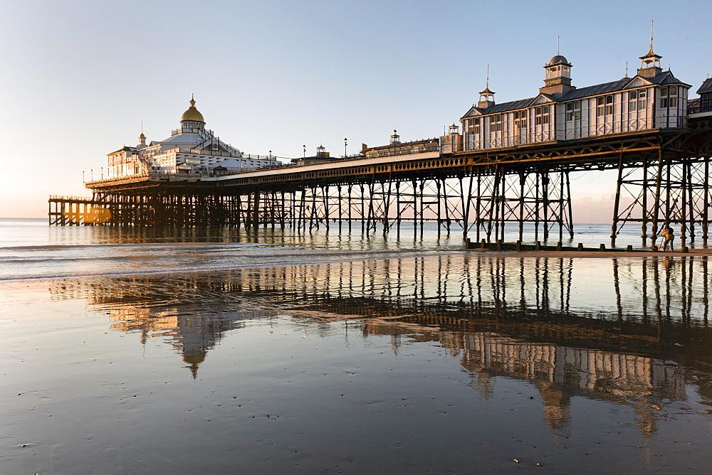 Eastbourne Pier at sunrise, Eastbourne, East Sussex, England, United Kingdom, Europe