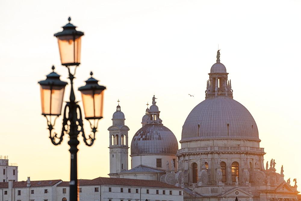 Domes of Santa Maria Della Salute at sunset, Venice, Italy