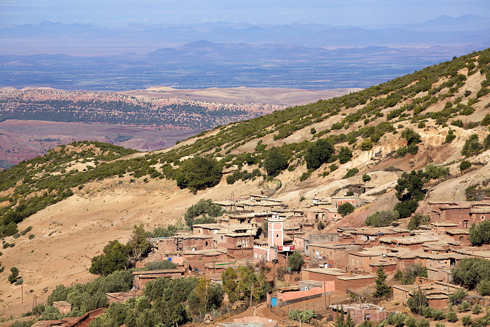 Traditional village in the foothills of the High Atlas Mountains, Morocco, North Africa, Africa - 321-5869