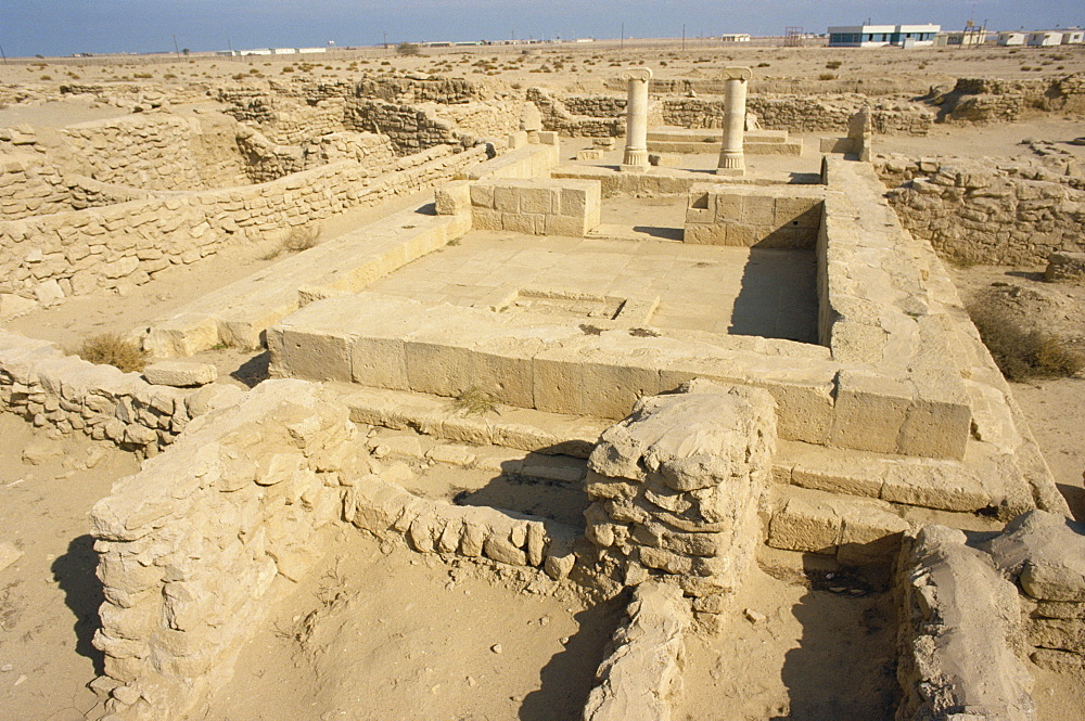 Ruins of Greek or Alexandrian settlement, Failaka Island, Kuwait, Middle East